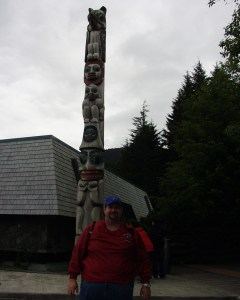 Sumoflam with a Totem Pole in Ketchikan