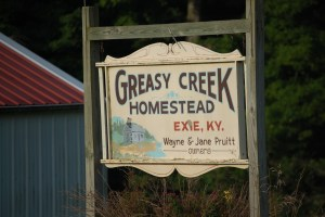 Greasy Creek Homestead in Exie, KY