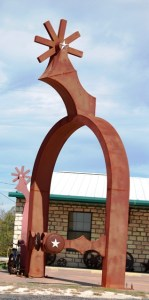 Giant Spurs at a business in Hico, Texas