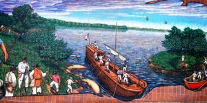 One of a number of Lewis and Clark Murals in Independence, MO