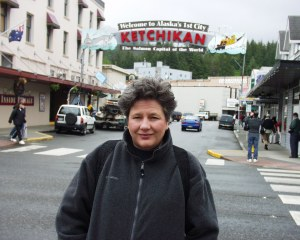 My wife in Ketchikan, Alaska in 2004