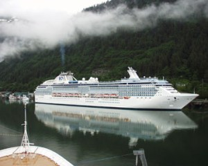 Cruise Ship in Juneau