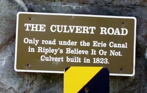 Culvert Road tunnel UNDER the Erie Canal