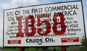 Oil Springs, Ontario - The location of the First Commercial Oil Well in North America