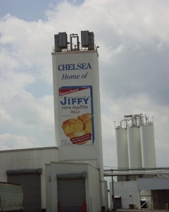Chelsea, MI is home of the Jiffy Corn Muffin company