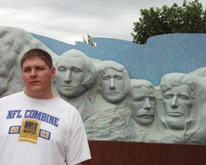 Wall's Mt. Rushmore with son Seth