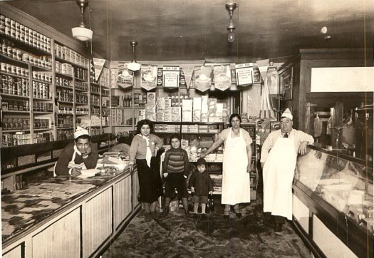 The Laurienzo store in the 1950s. My grandfather Carmine is on the right