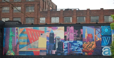 Large Mural in downtown Cleveland