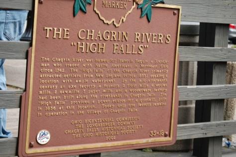 Chagrin Falls Historic Sign
