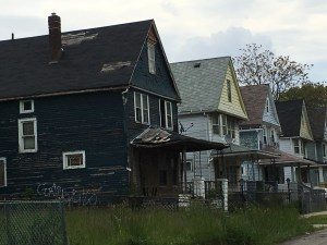 Urban decay is rampant in the neighborhood where Superman was born