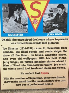 Story of Superman at Joe Shuster's former home