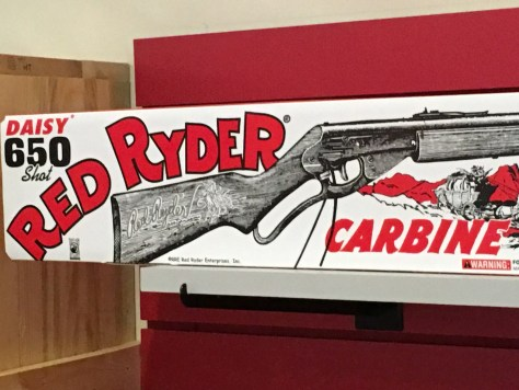 The Famed Red Ryeder bb gun -- you'll shoot your eye out!!