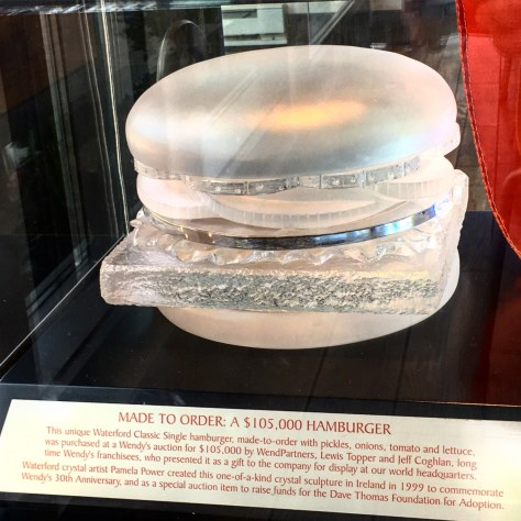 The Wendy's Original $150,000 Crystal Cheeseburger created by Waterford Crystal