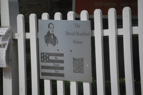 The David Bradford House is a National Historic Site in Washington, PA