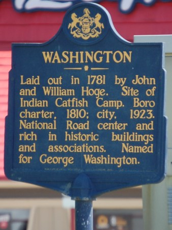 Washington, PA Historic Marker