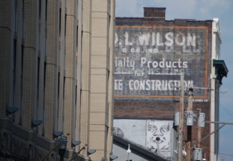Old Wall Sign in downtown Pittsburgh