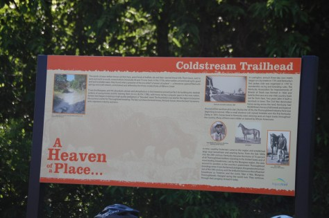 Signage on the trail with history and more