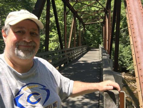 At one of the steel bridges on the Virginia Creeper Trail