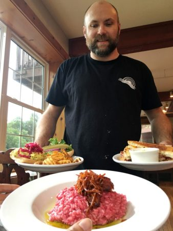 Head Chef John King presents our dishes at the Old Mill Restaurant.