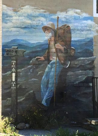 A nice representation of an old hiker on the Appalachian Trail