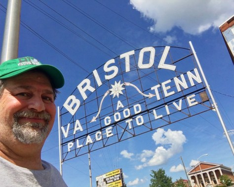 Welcome to Bristol. I took this from the Tennessee side of the road.