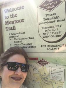Julianne at the Montour Trail in Pennsylvania
