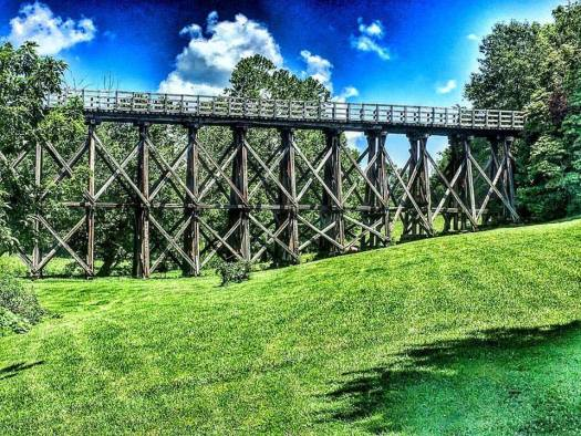 Trestle #4 near Abingdon, VA - one of 47 trestles on the 32 mile trail
