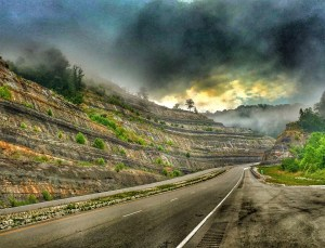 Beautiful Highway heading into Virginia