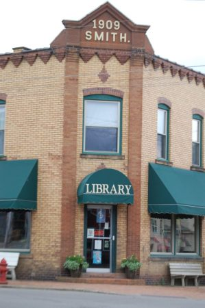 The Fredericksburg Library is located in an old building