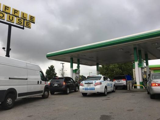 While in Nashville last weekend, there was a massive gas shortage. Many stations ran out of gas.