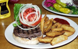 Travelers Club International Restaurant's famous Buffalo Burger