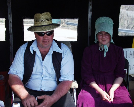 Mennonite Father and Daughter - Elora, Ontario