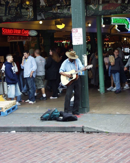 Street Musician - Seattle, Washington
