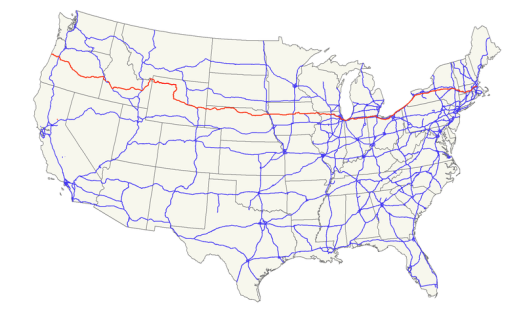 US Route 20 Map - from Wikipedia