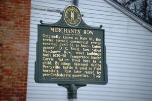 Merchant's Row Plaque