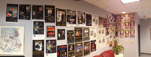 PAC Green Room Poster Wall