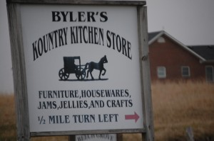 Sign to Byler's Kountry Kitchen