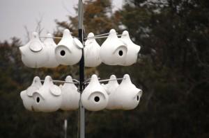 Ceramic Gourd Martin Bird Houses