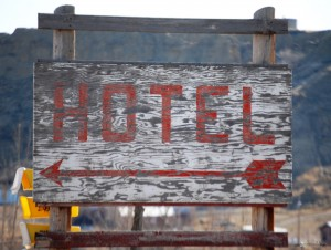 Old Hotel Sign - Winnett, MT