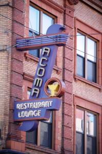 Acoma Restaurant Sign