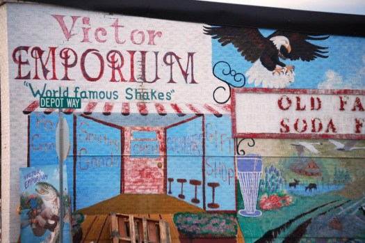Victor Emporium Mural - Victor, ID