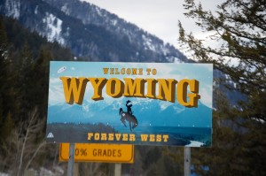Welcome to Wyoming sign on Teton Pass