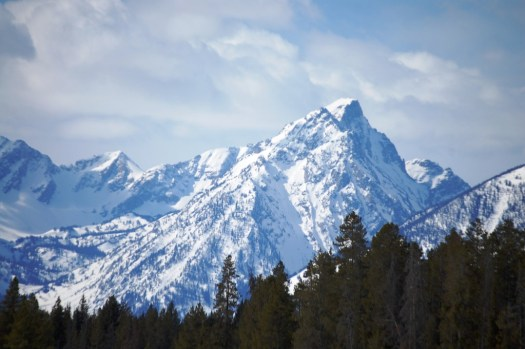 Mt. Moran in Grand Tetons as seen from US 89