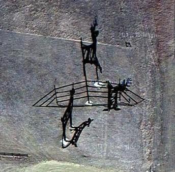 Deer Crossing from satellite