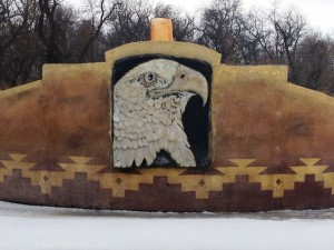Rising Eagle Sculpture from the Front