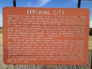 Kerchival City Historical Marker at Mosby Rest Area