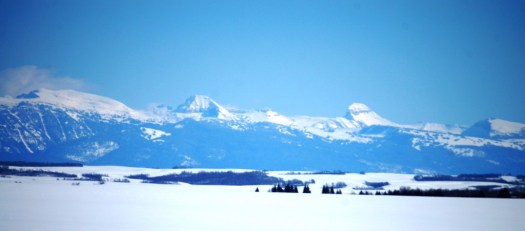 The Tetons as seen from near Drummond, ID