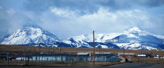 Browning, Montana - notice all of the garbage