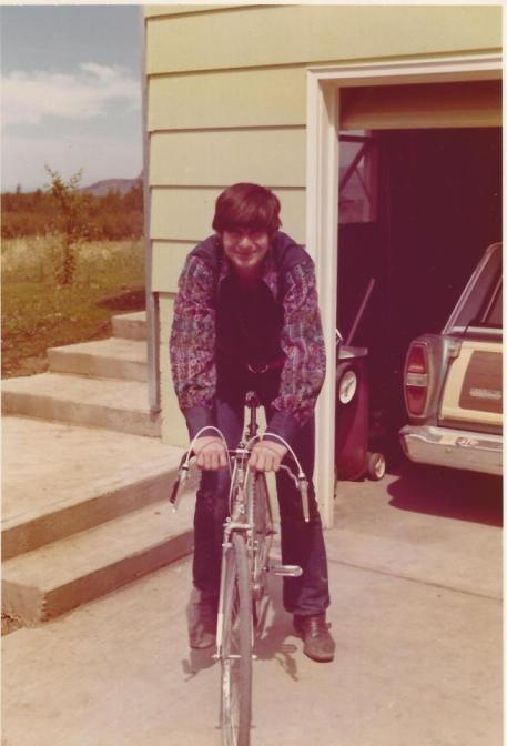David in Bozeman 1973 - wearing my favorite bell-sleeved embroidered shirt