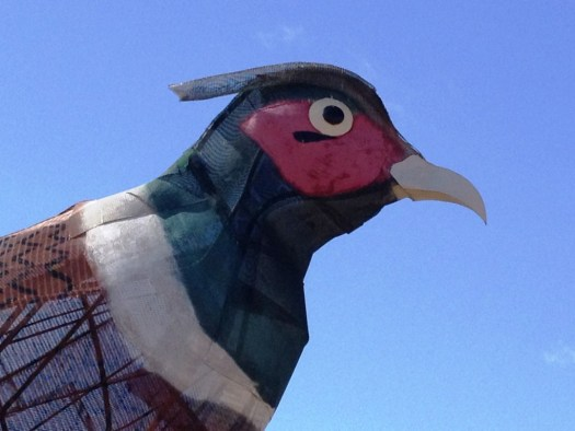 The Rooster at Pheasants on the Prairie weighs over 13,000 pounds is over 40 feet tall.